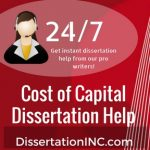 Cost of Capital Dissertation Help