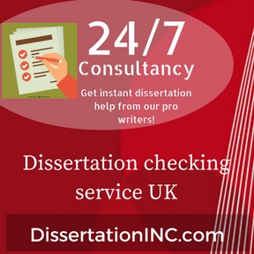 Dissertation checking service UK
