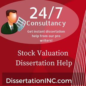Stock Valuation Dissertation Help