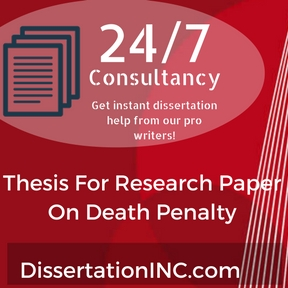 Thesis For Research Paper On Death Penalty
