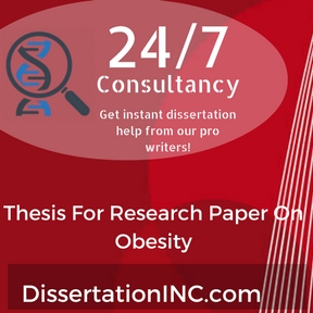 dissertation on obesity Thesis-this education can be supplemented by nutritional education gained at school children can learn concepts such as the food pyramid and its nutritional.