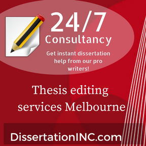 Thesis editing services Melbourne