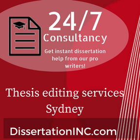 Thesis editing services Sydney