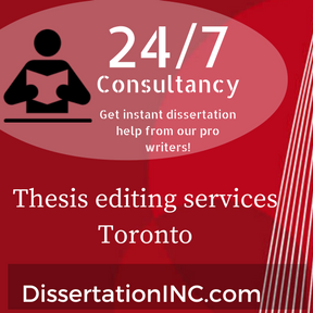 Thesis editing services Toronto