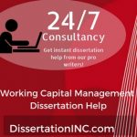Working Capital Management Dissertation Help